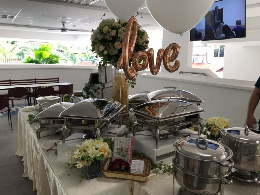 K'Mich Weddings- wedding planning - catering - buffet setup - foodline